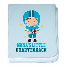 Nana Quarterback baby blanket