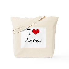 I Love Markups Tote Bag