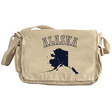 Alaska Map Design Messenger Bag