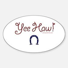 Yee Haw! Oval Decal