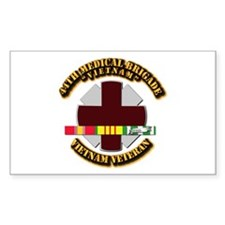 Army DUI - 44th Medical Bde w SVC Ribbons Decal