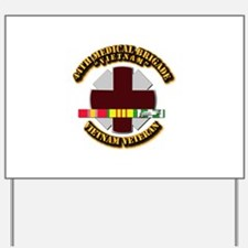 Army DUI - 44th Medical Bde w SVC Ribbons Yard Sig