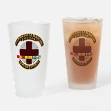 Army DUI - 44th Medical Bde w SVC Ribbons Drinking