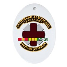 Army DUI - 44th Medical Bde w SVC Ribbons Ornament
