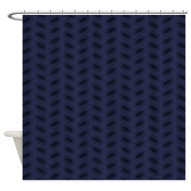 Mod Dark Blue D1 Shower Curtain By