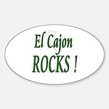 El Cajon Rocks ! Oval Decal