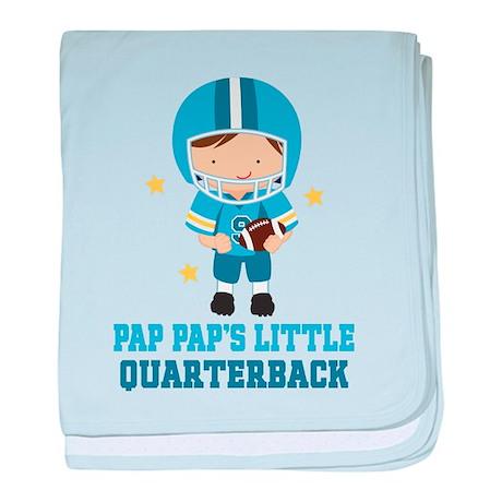 Pap Pap Quarterback baby blanket