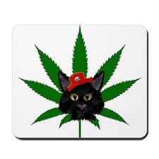 Pirate Weed Kitty Mousepad