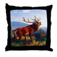 Bugling Elk Throw Pillow