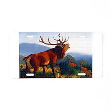 Bugling Elk Aluminum License Plate
