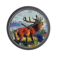 Surreal Elk Wall Clock