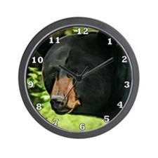 Brown Nose Bear Wall Clock