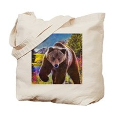 Grizzly Bear Territory Tote Bag