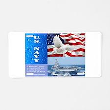 U.S. Navy Aluminum License Plate