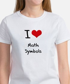 I Love Math Symbols T-Shirt
