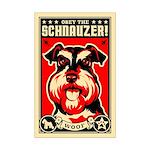 Obey the Schnauzer! Mini Poster Print