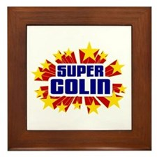 Colin the Super Hero Framed Tile