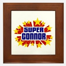 Connor the Super Hero Framed Tile