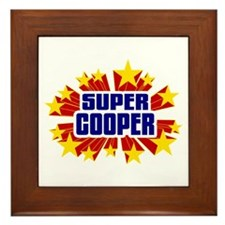 Cooper the Super Hero Framed Tile