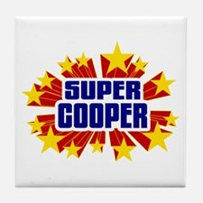 Cooper the Super Hero Tile Coaster