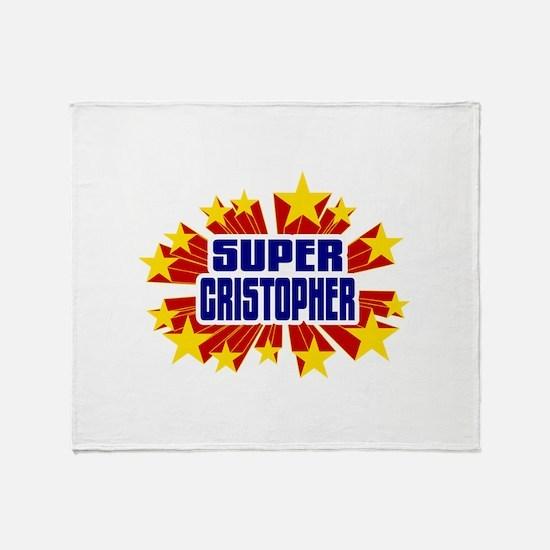 Cristopher the Super Hero Throw Blanket