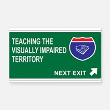 Unique Visually impaired Rectangle Car Magnet