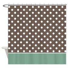 Brown with White Dots 2 Shower Curtain