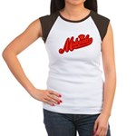 Midrealm Red Retro Women's Cap Sleeve T-Shirt