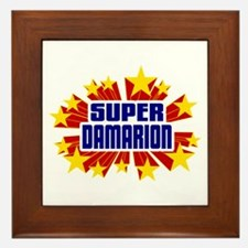 Damarion the Super Hero Framed Tile