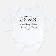 Faith Long Sleeve Infant Bodysuit