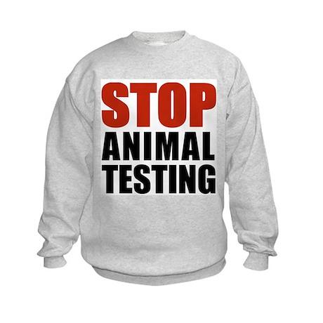 Stop Animal Testing Kids Sweatshirt