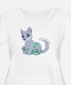 My cub wears cloth 2 (white) Plus Size T-Shirt