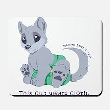 This cub wears cloth 1 (purple) Mousepad