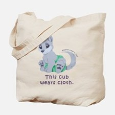 This cub wears cloth 2 (purple) Tote Bag