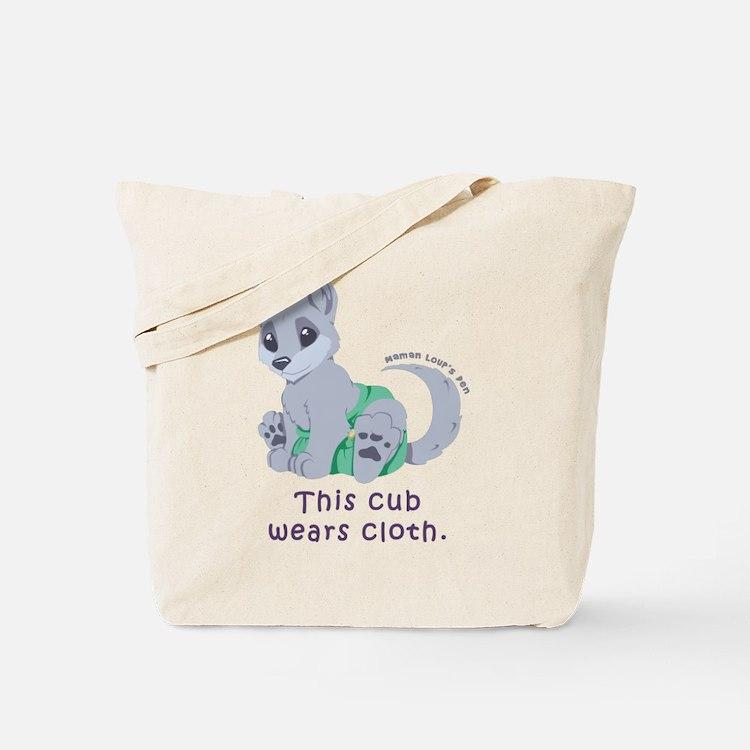 This cub wears cloth 2 (purple) Tote Bag