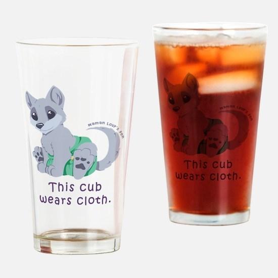 This cub wears cloth 2 (purple) Drinking Glass
