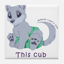 This cub wears cloth 2 (purple) Tile Coaster