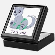 This cub wears cloth 2 (purple) Keepsake Box