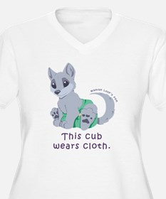 This cub wears cloth 2 (purple) Plus Size T-Shirt