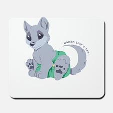 This cub wears cloth 2 (white) Mousepad