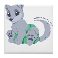 This cub wears cloth 2 (white) Tile Coaster