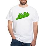 Midrealm Green Retro White T-Shirt