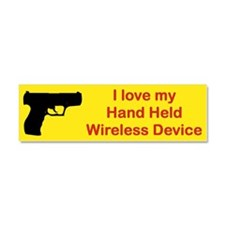 I LOVE MY HAND HELD WIRELESS DEVICE car magnet