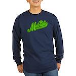 Midrealm Green Retro Long Sleeve Dark T-Shirt
