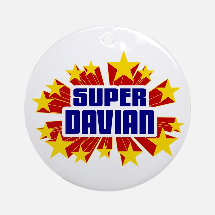 Davian the Super Hero Ornament (Round)