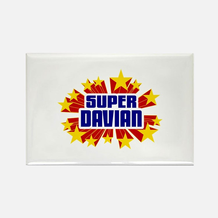 Davian the Super Hero Rectangle Magnet