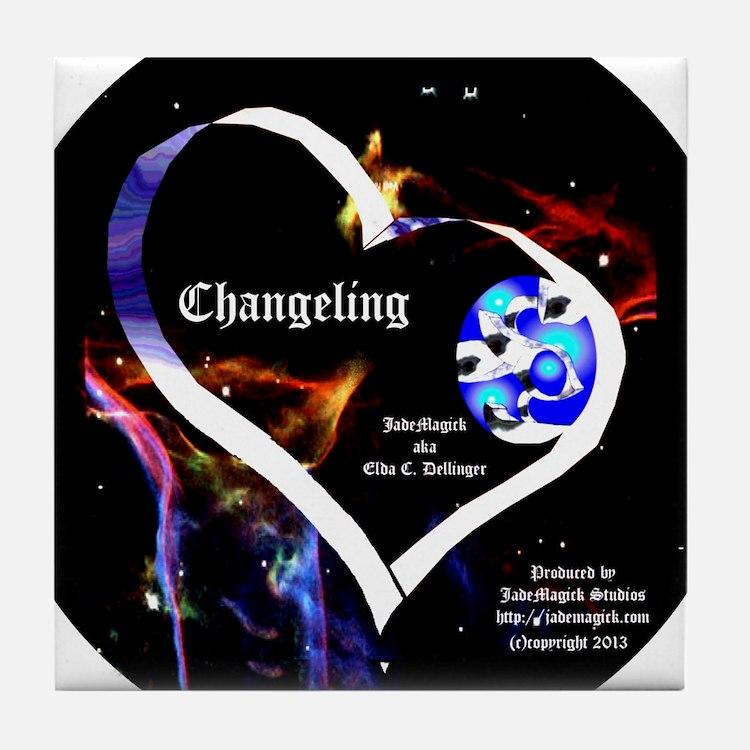 JM Changeling Oval Tile Coaster