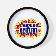 Declan the Super Hero Wall Clock
