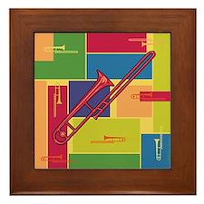 Trombone Colorblocks Framed Tile
