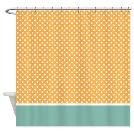 Yellow With Little White Dots 2 Shower Curtain By MarloDeeDesignsShowerCurtains